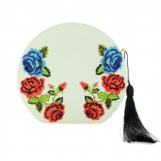 Floral Embossed Faux Leather Clutch