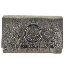 Dazzling Metallic Faux Leather Clutch