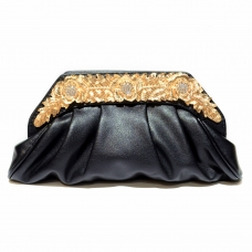 Relief Flower Craf Crystal Clutch