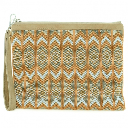 Crystal & Beaded Wristlet Clutch