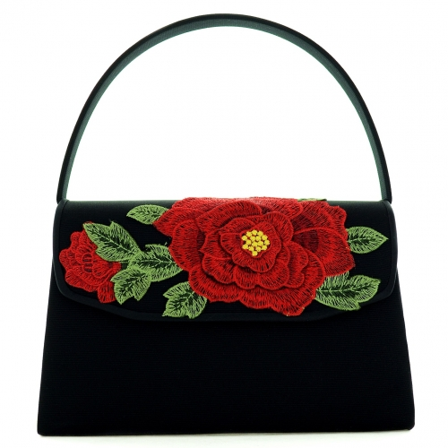 Vintage Classic Flower Embroidered Clutch Bag
