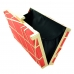 Cut Out Frame Satin Clutch
