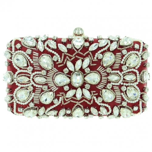 Hand Sewing Crystal Clutch (Medium)