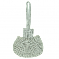 Allover Crystal Pouch Bag