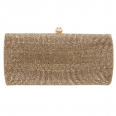 Allover Crystal Embellished Minaudière