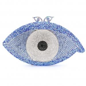 Crystal-Embellished The Eye Evening Clutch