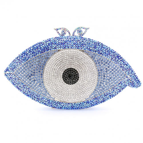 Crystal-Embellished The Eye Evening Clutch