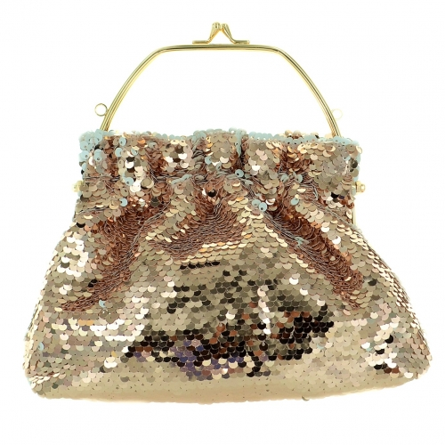 Shimmering Sequin Clutch, Silver