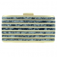 Marble Cut Acrylic Clutch
