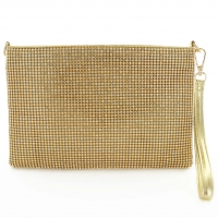 Rhinestone Crystal Allover Wristlet Clutch Bag