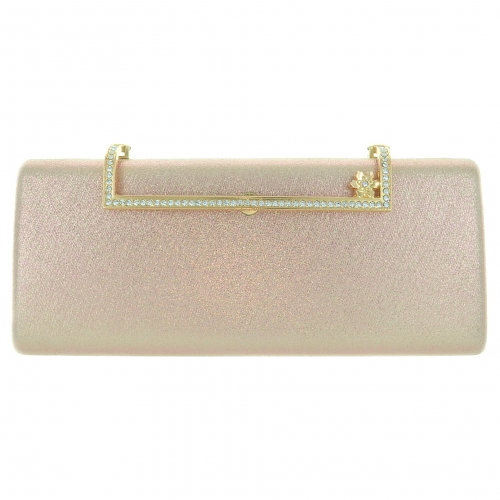 Glitter Metallic Box Clutch