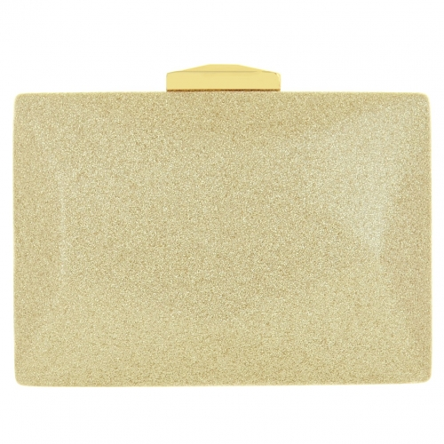 Glitter Faux Leather Clutch