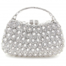 Crystal-Embellished Purse Evening Clutch