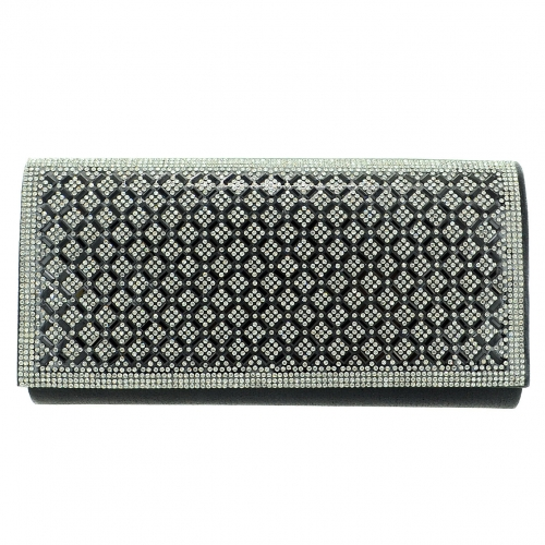 Crystal Foldover Clutch