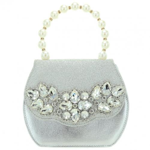 Pearl Handle Crystal Deco Purse
