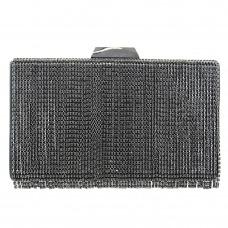 Lavish Crystal Fringe Clutch