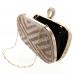 Ring Top Crystal-Embellished Clutch