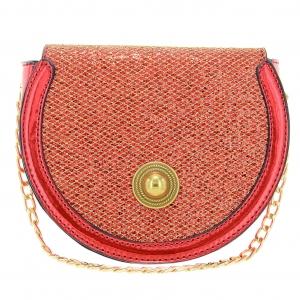 Glitter Saddle-shaped Crossbody Bag