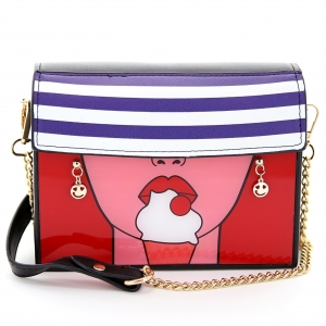 Hot Lip Fashion Crossbody Bag