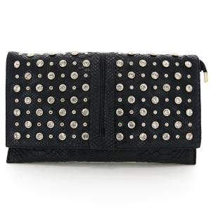 Crystal Studded Wristlet Clutch