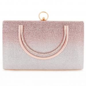 Women Glitter Box Frame Clutch/Evening Bag