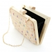 Raffia Straw Wood Frame Clutch