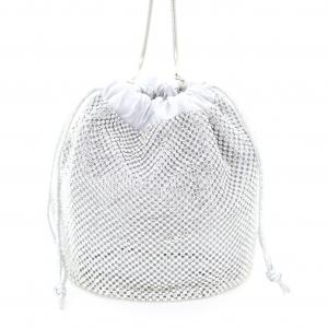 Rhinestone Drawstring Bucket Bag