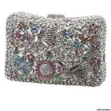 Butterfly Crystal Evening Clutch