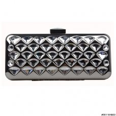Crystal Metal Clutch