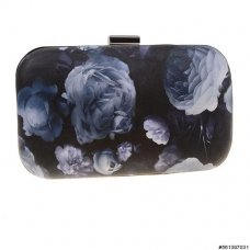 Romantic Floral Print Vegan Leather Clutch