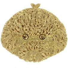 Crystal-Embellished  Poodle's Evening Clutch