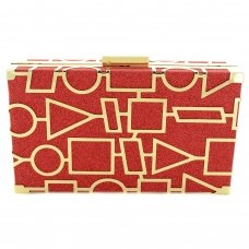Cut Out Frame Glitter Clutch