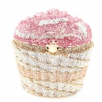 Crystal-Embellished Cupcake Evening Clutch