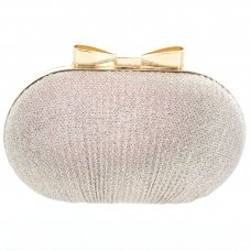 Bow Top Glitter Clutch