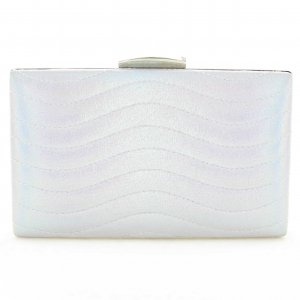 Metallic Waves Frame Clutch