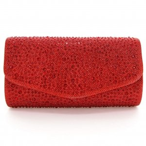 Glitter Crystal Rhinestone All Over Evening Clutch