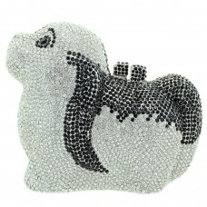 Crystal Embellished Dog Evening Clutch