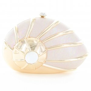 Glitter Nautilus Sea Shell Clutch Bag