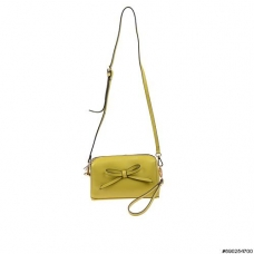 Leather bow crossbody bag (short strap include)