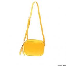 Textured leather crossbody bag