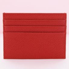 Pebbled Leather Mini Credit Card Holder