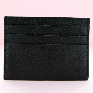Pebbled Leather Mini Credit Card  Card Holder